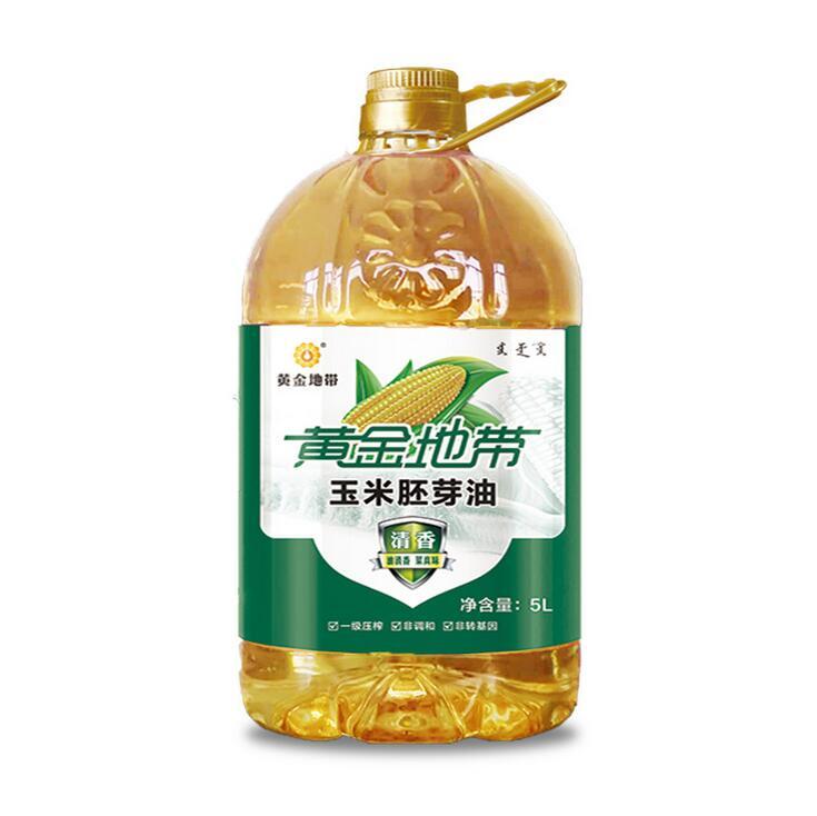 黃金地帶優質清香玉米胚芽油 5L一級玉米胚芽油 非調和油綠色食品