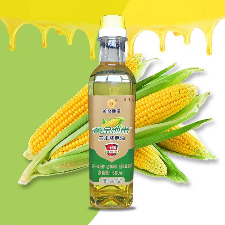 内蒙黄金产地玉米油 家庭食用油500ml