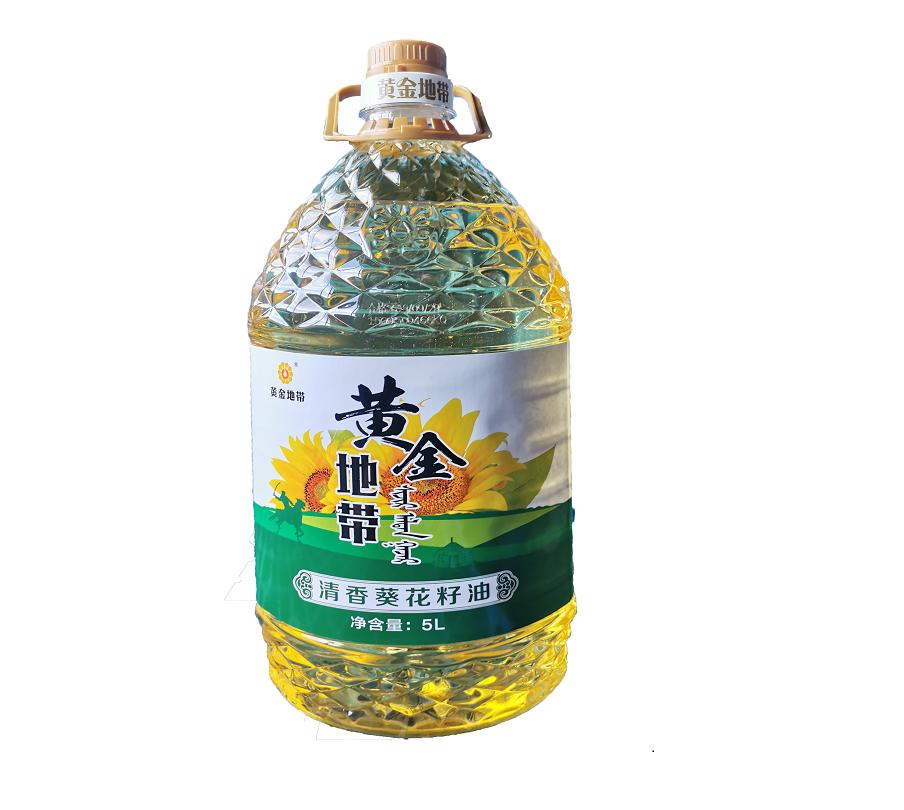 清香葵花籽油5L 物理壓榨食用油清淡型